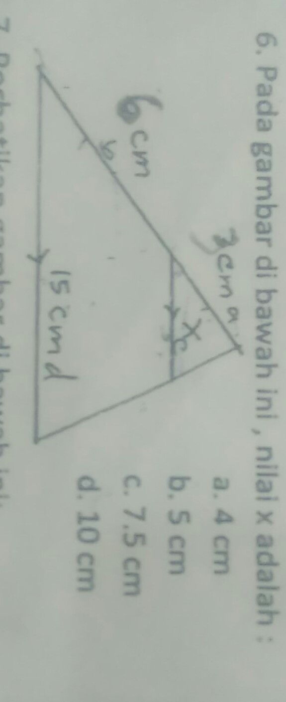 pada gambar di bawah ini , nilai x adalah: - Brainly.co.id