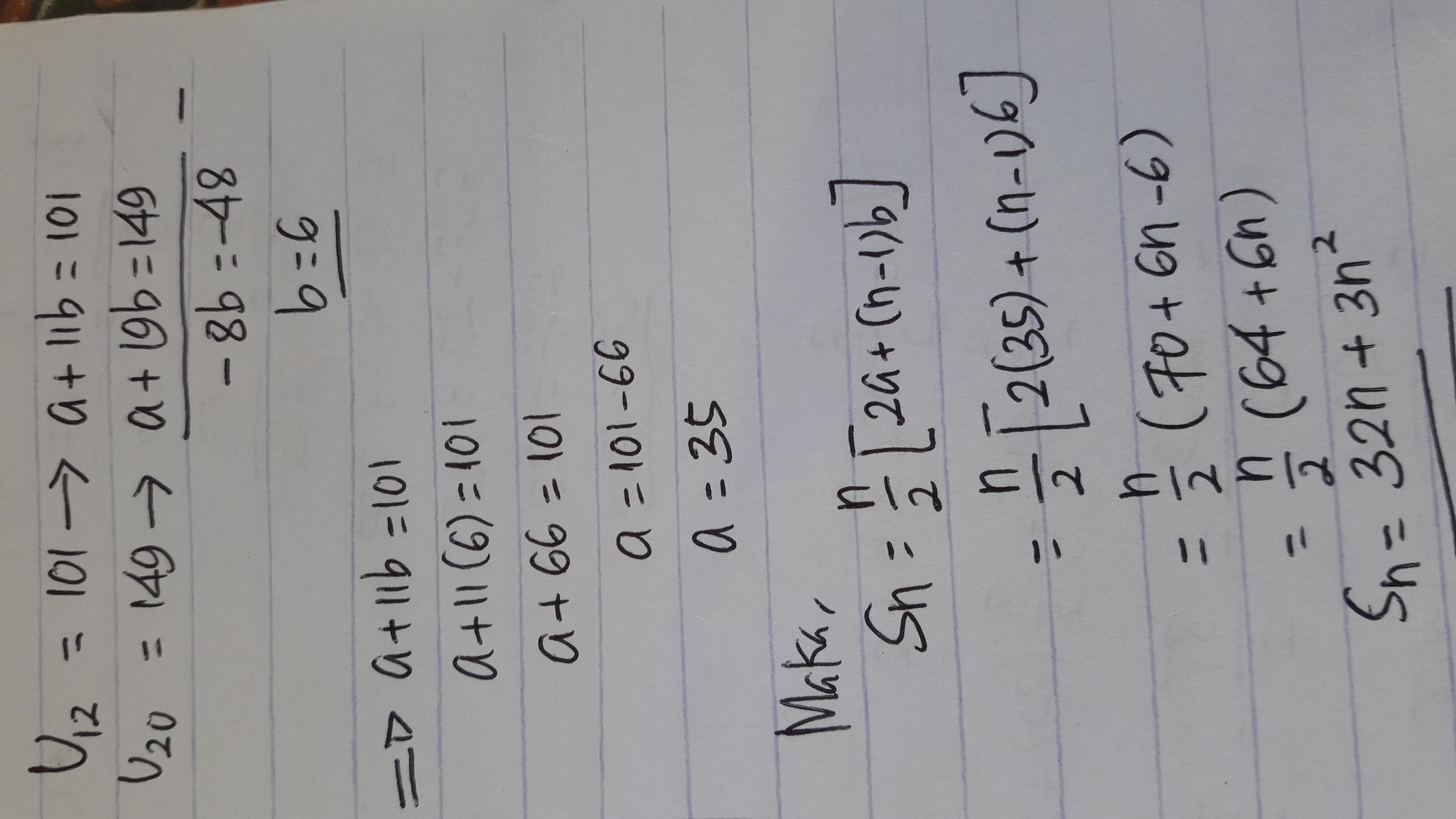 Suku ke-12 dan suku ke-20 suatu deret aritmetika berturut ...