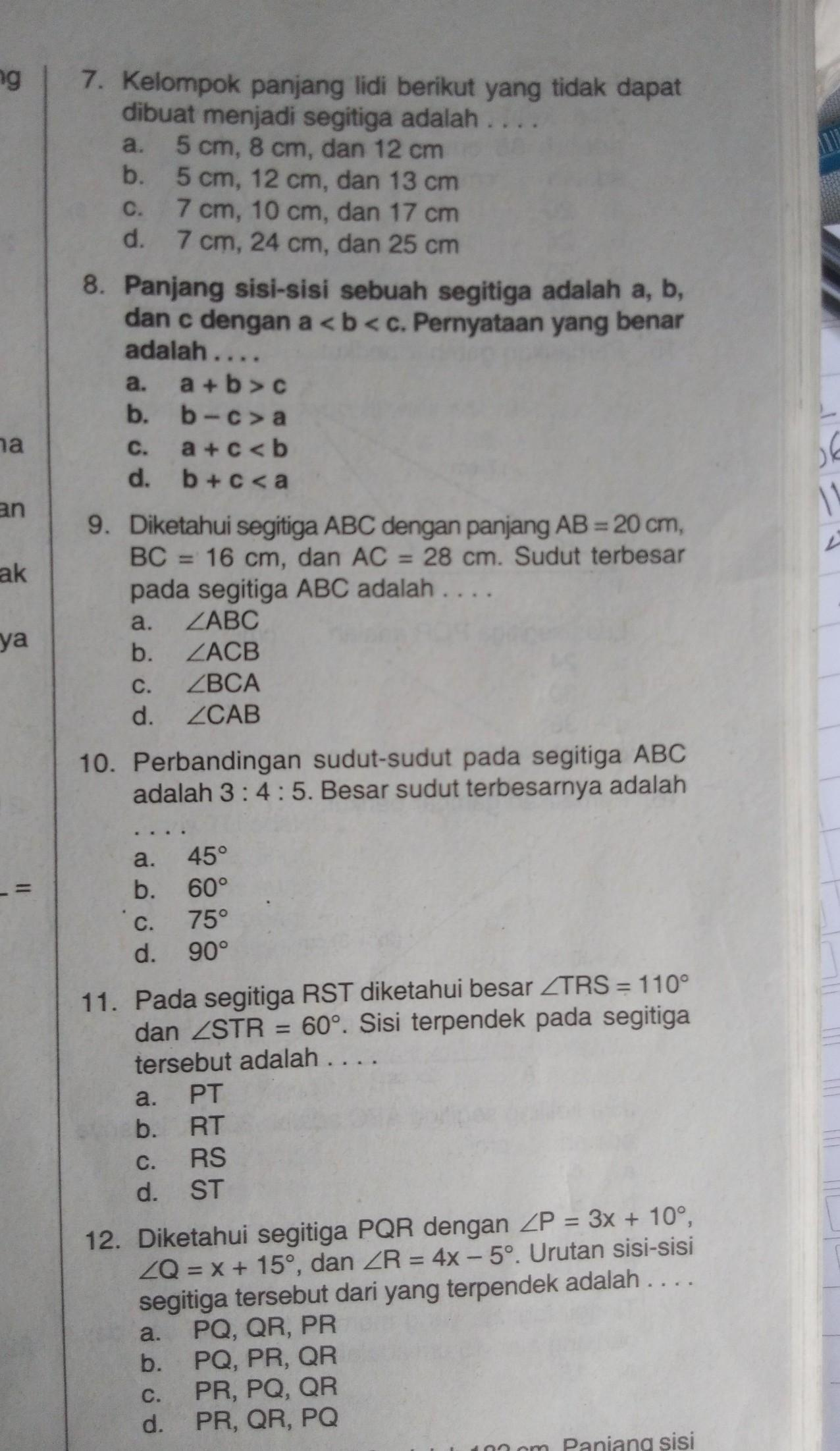 Tolong Di Jawab Soal Matematika Smp Kls 7 Brainly Co Id