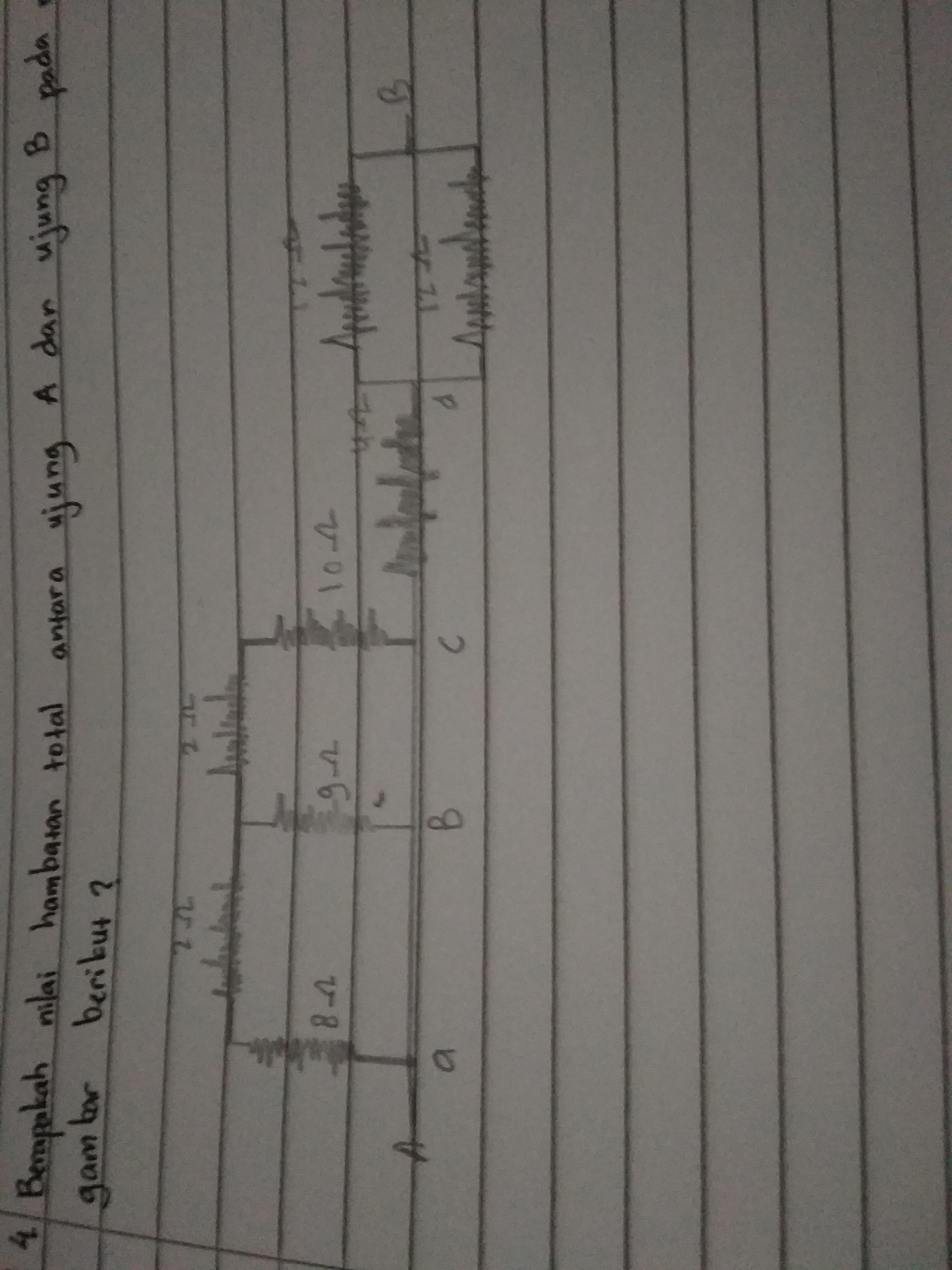 Berapakah nilai hambatan total antara ujung a dan ujung b ...