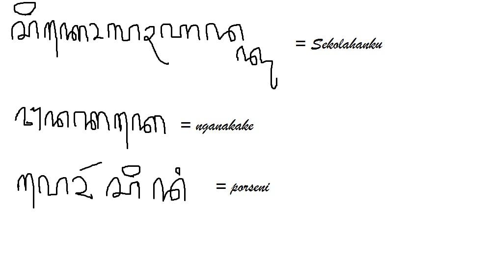 Tuliskan Sekolahanku Nganakake Porseni Dadi Aksara Jawa Brainly