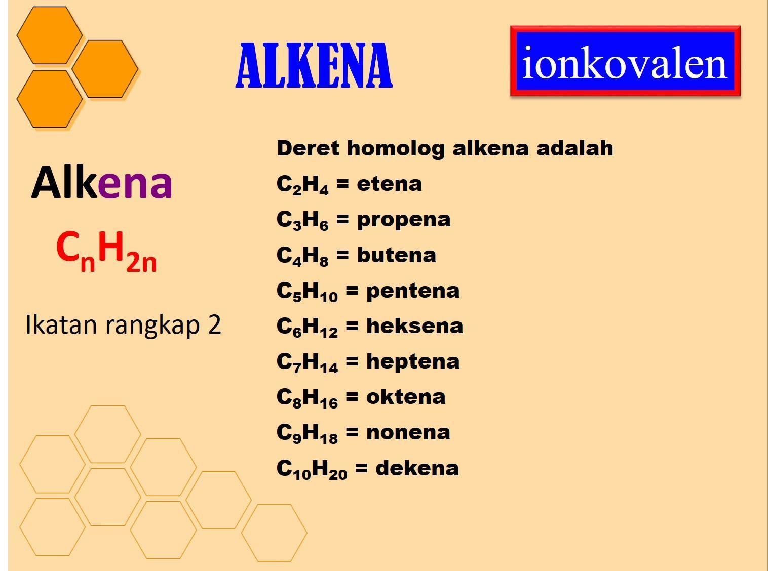 19+ Yang termasuk senyawa alkena adalah info