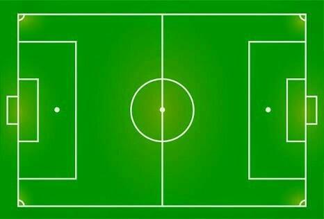 Gambar Bentuk Lapangan Sepak Bola Dan Bola Voli Tanpa Ukuran Brainly Co Id