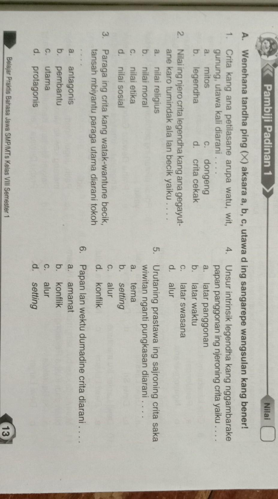 Jawaban Lks Bahasa Jawa Kelas 4 Guru Paud