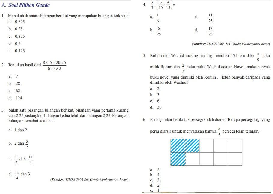 Kunci Jawaban Ujian Semester Ganjil Kelas 7 Ujian Nasional