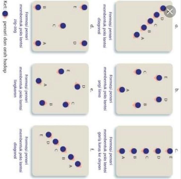 Gambarkan Masing Masing 5 Pola Lantai Atau Formasi Dalam Bentuk Garis Lurus Dan Garis Lengkung Brainly Co Id