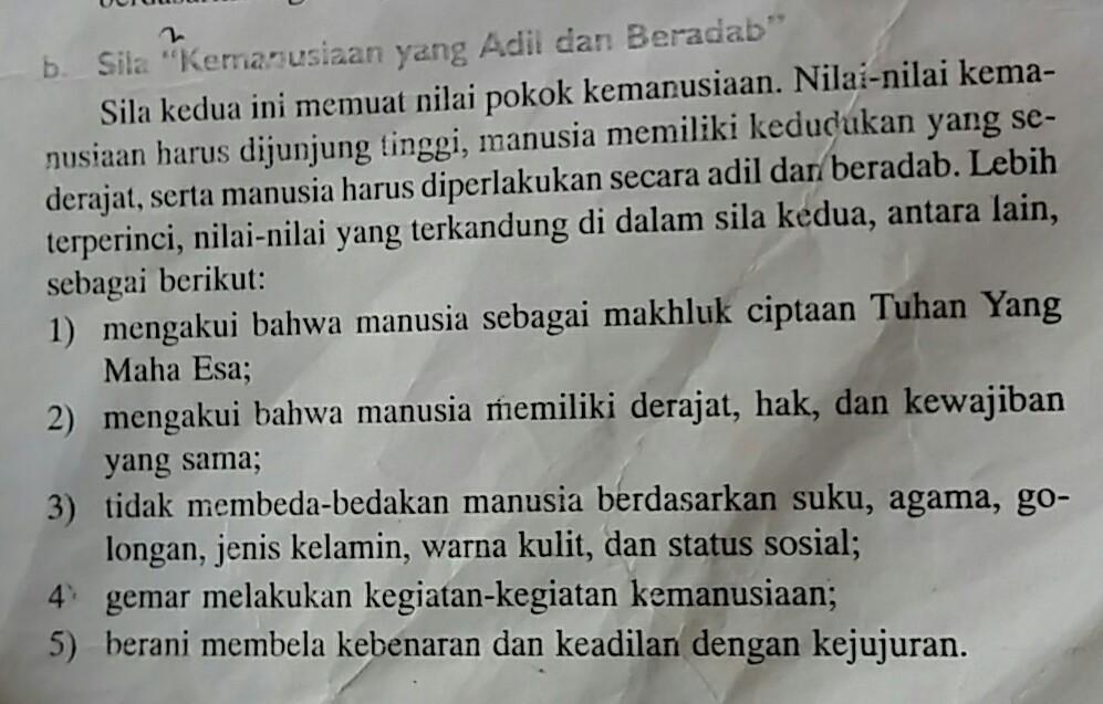 Sebutkan Nilai Nilai Yang Terkandung Dalam Pancasila ...