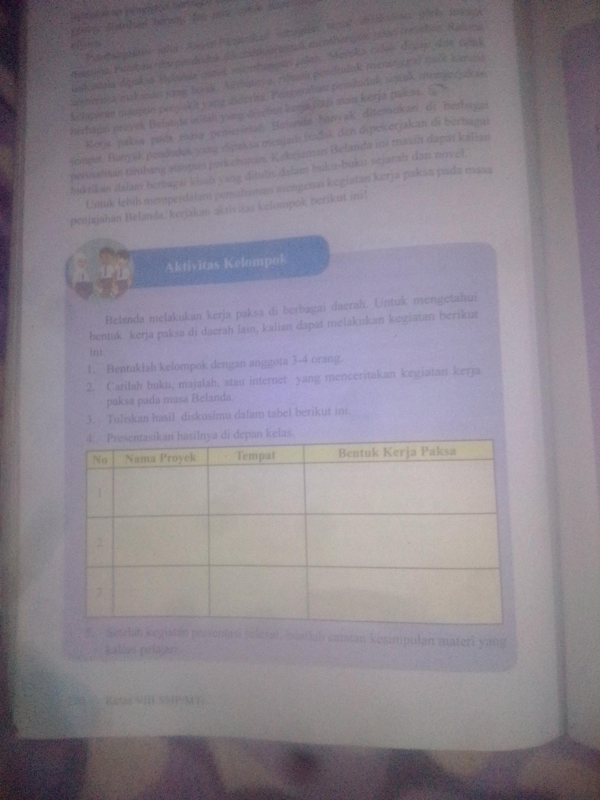 Tolong Jawabanya Tugas Ips Buku Paket Semeter 2 Kurikulum 2013 Halaman 210 Aktifitas Kelompok Mau Brainly Co Id