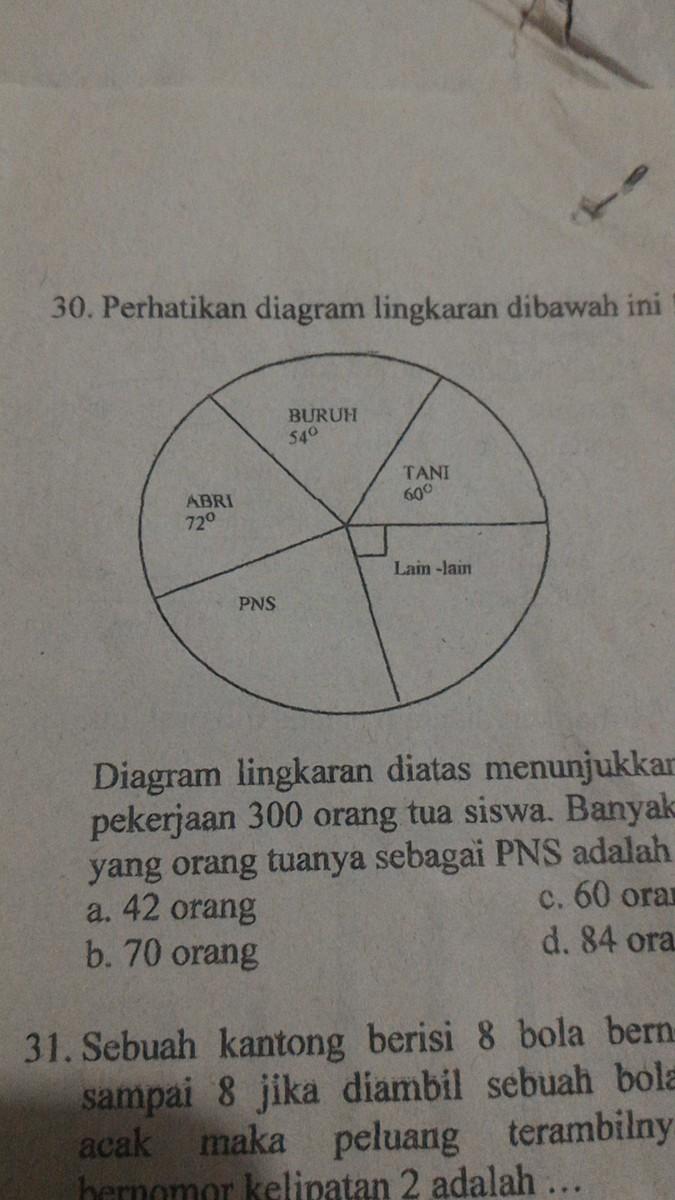 Diagram lingkaran diatas menunjukkan jenis pekerjaan 300 orangtua unduh jpg ccuart Gallery