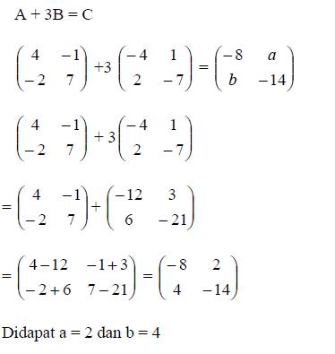 Berikan Contoh Contoh Soal Matriks Dan Jawaban Nya Brainly Co Id