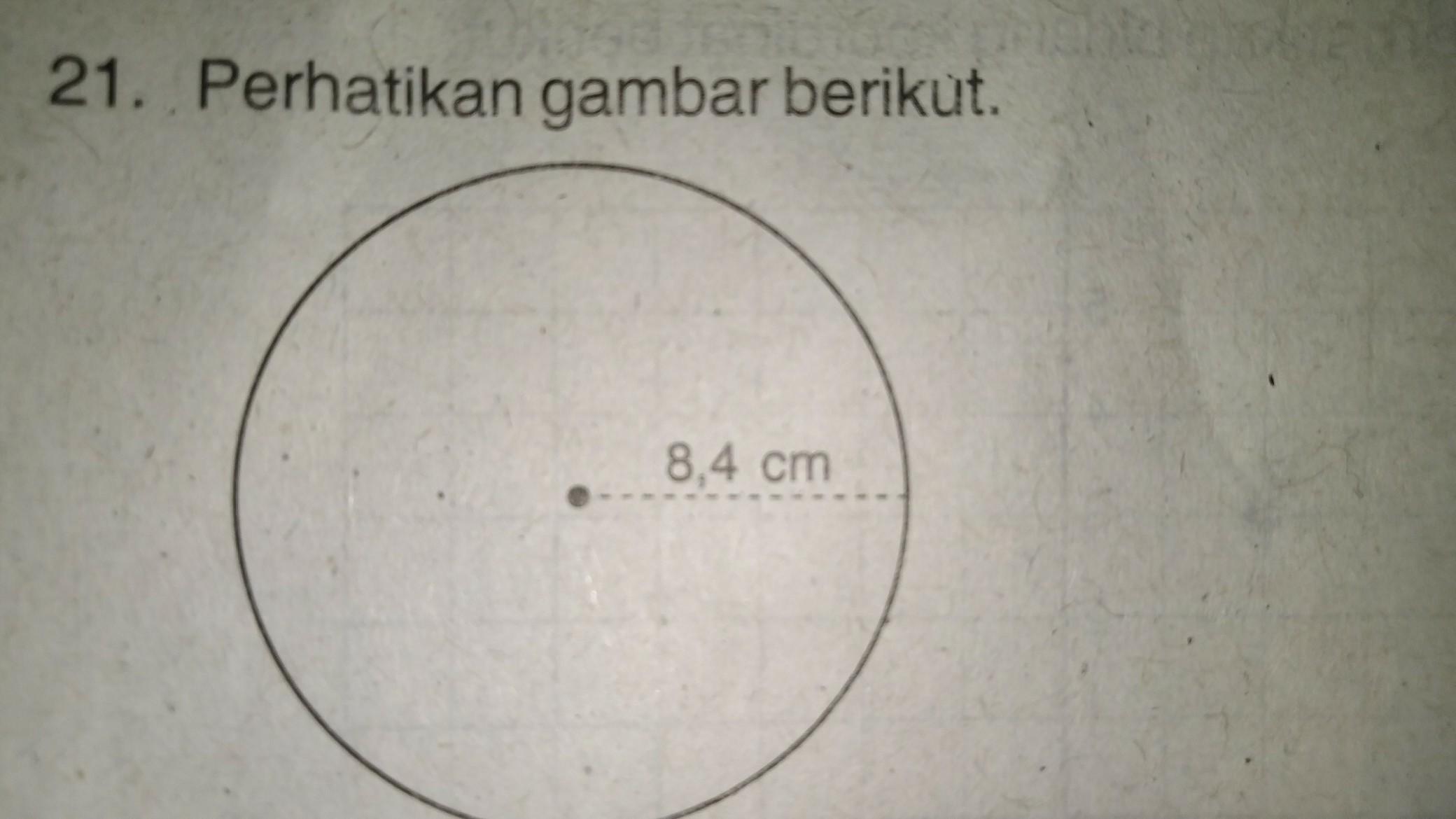 Luas Lingkaran Pada Gambar Adalah Brainly Co Id