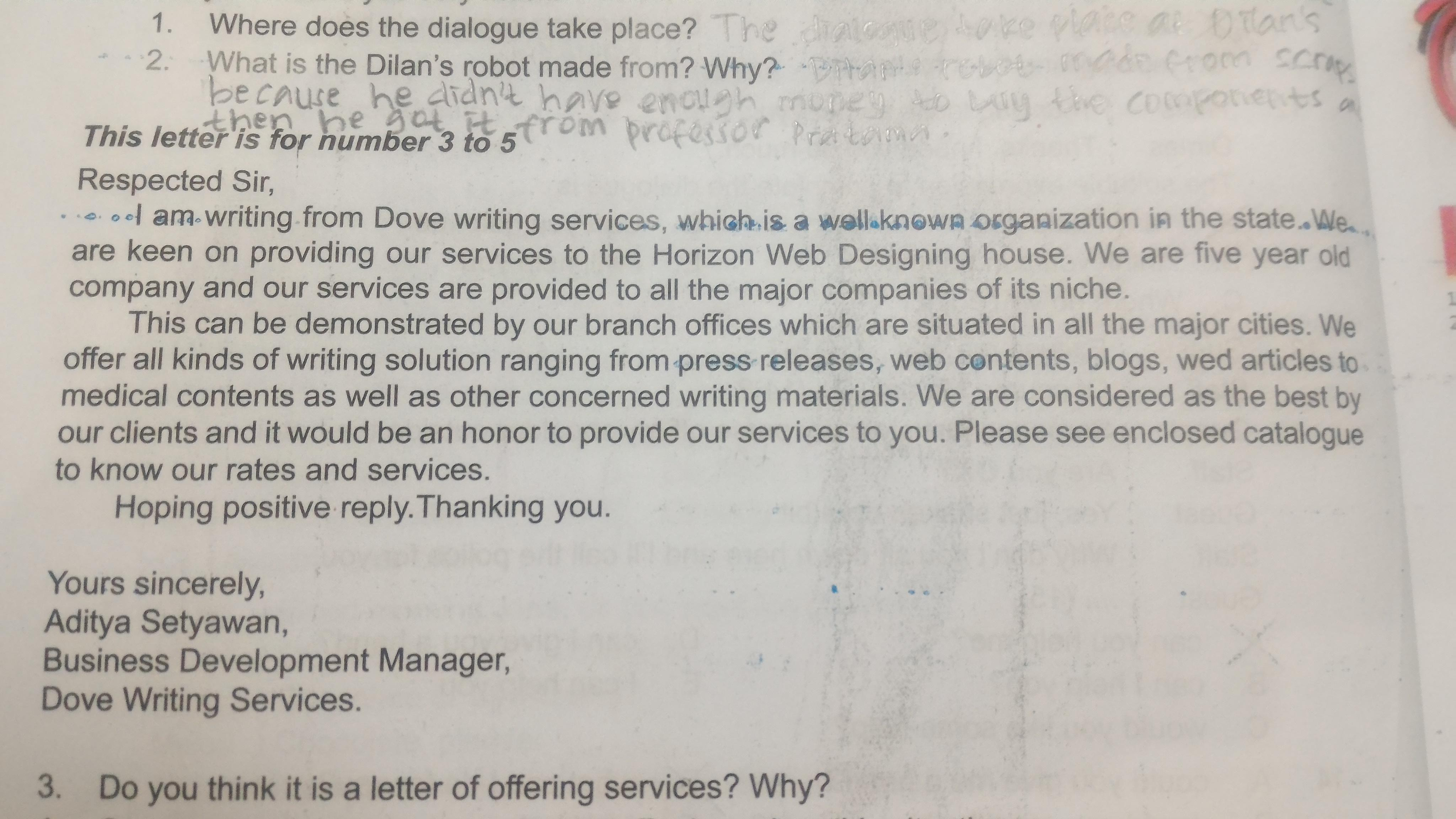 Do You Think It Is Letter Of Offering Services Why Jelaskan Yhaaa Brainly Co Id