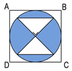 Perhatikan gambar di bawah! ABCD adalah persegi dengan ...