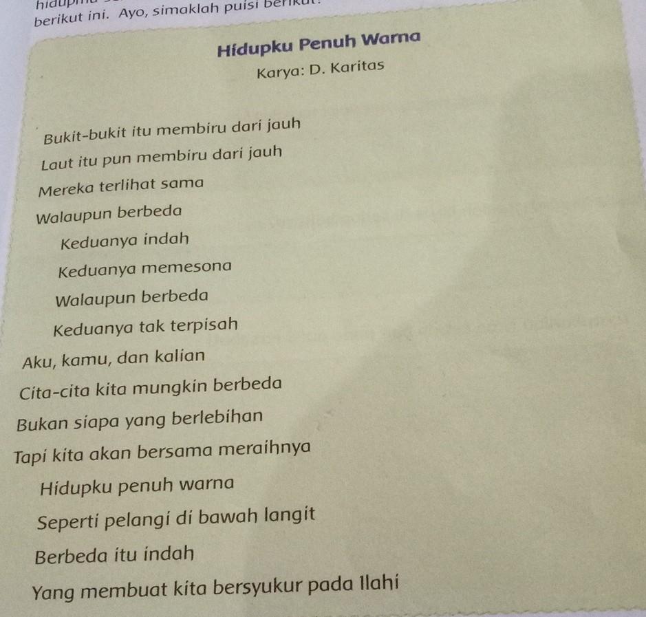 Apa Yang Dimaksud Dengan Bait Puisi - KT Puisi