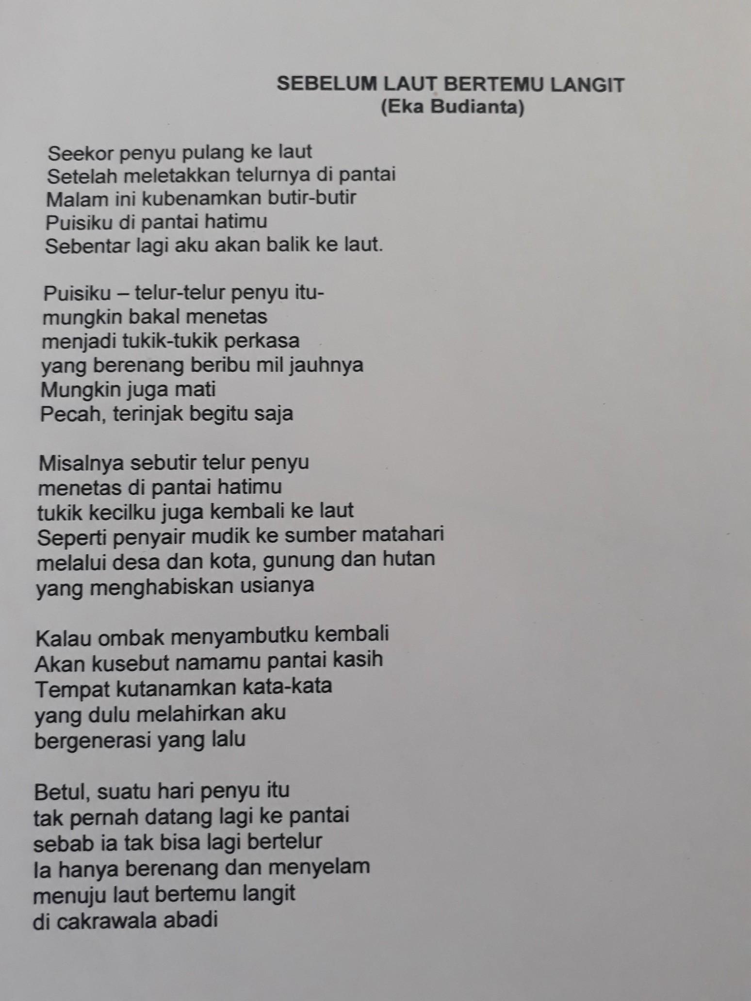 Puisi Tentang Alam 5 Bait 4 Baris - KT Puisi