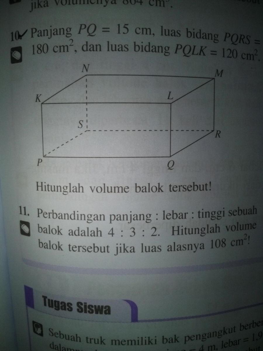 1as permukaan sebuah kubus 486cmtentukan volume kubus tersebut tentukan tinggi balok tersebut jika volumenya 864cm 3rbandingan panjanglebartinggi sebuah balok adalah 432 ccuart Image collections