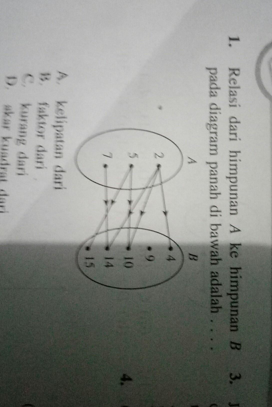 Relasi dari himpunan a ke himpunan b pada diagram panah di bawah relasi dari himpunan a ke himpunan b pada diagram panah di bawah adalah ccuart Image collections