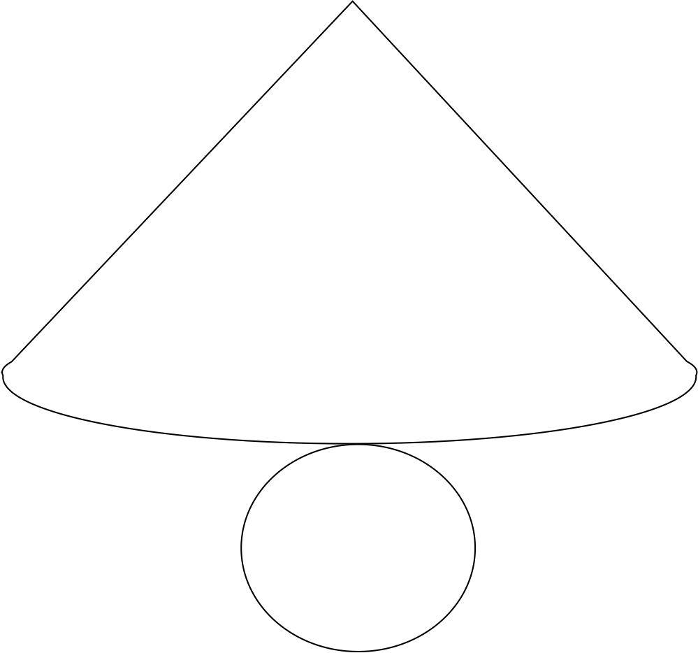 bagaimana cara membuat jaring jaring kerucut // - Brainly ...
