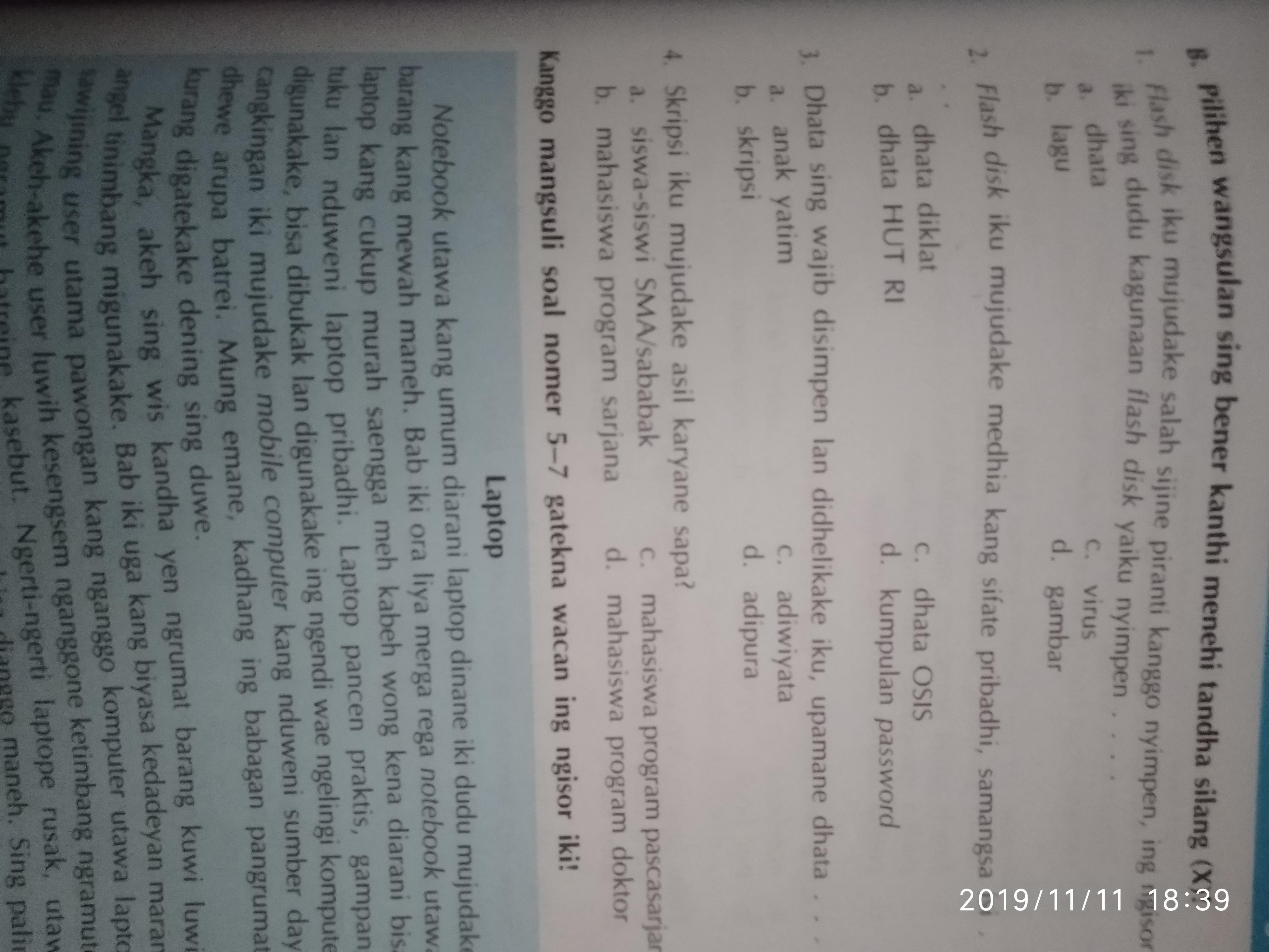 Kunci Jawaban Tantri Basa Jawa Kelas 6 Kaca 22
