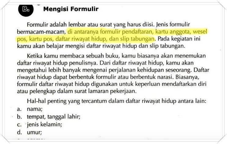 Sebutkan Jenis Jenis Formulir Brainly Co Id