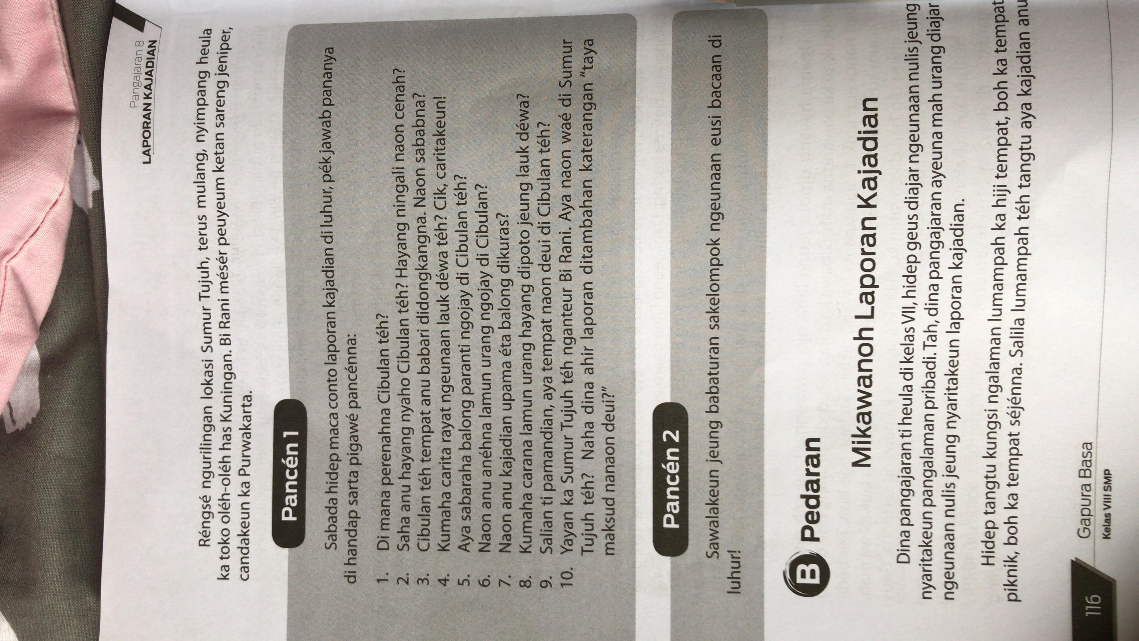 Jawaban Soal Bahasa Indonesia Tugas 2 Hal 111 Kelas 10