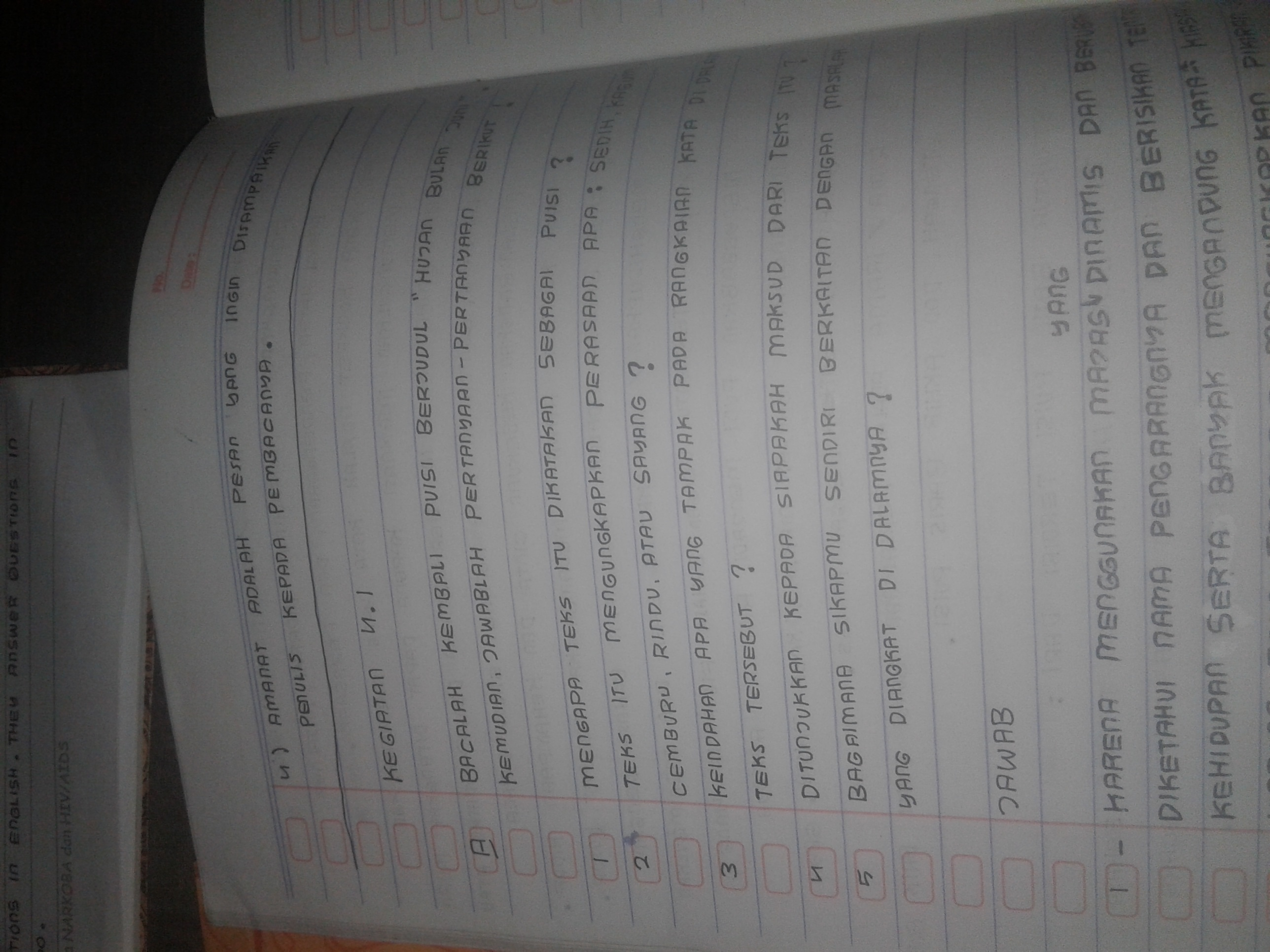mohon jawaban..........buku bahasa indonesia kelas 8 ...
