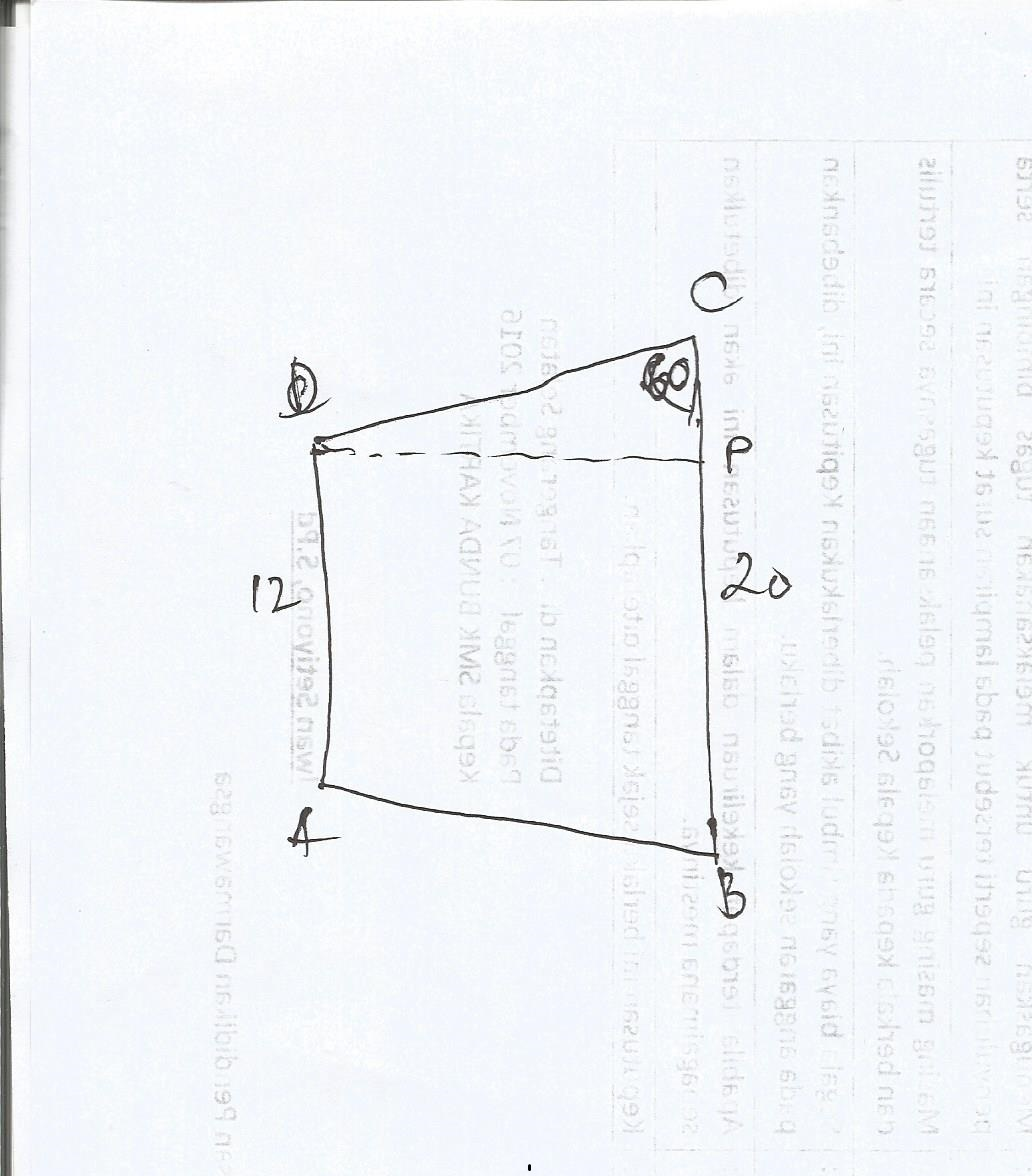 Hitunglah Luas Trapesium Abcd Jika Diketahui Panjang Ab 12 ...
