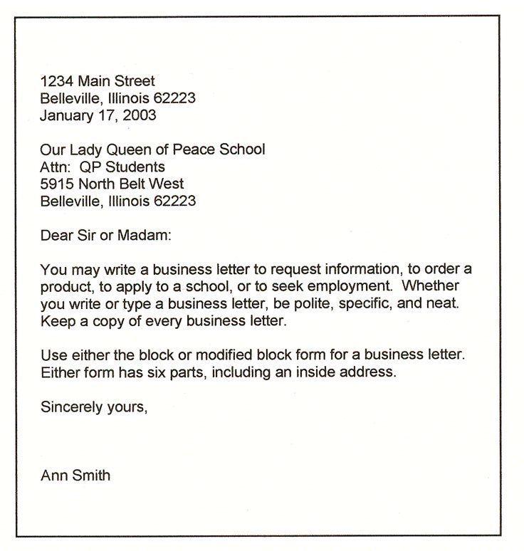 Teman Teman Bisa Buatkan Contoh Surat Bussines Letter