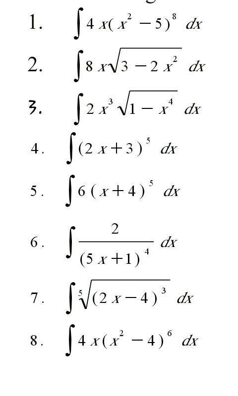 Tentukan Integral Dari Fungsi Fungsi Berikut Dengan Menggunakan Metode Substitusi No 6 Brainly Co Id