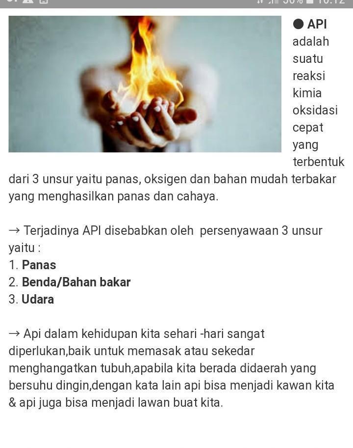 Apakah perbedaan api dan kebakaran - Brainly.co.id