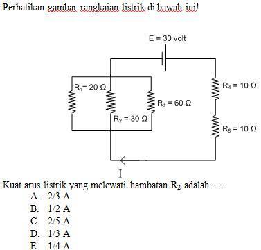 Perhatikan gambar rangkaian listrik di bawah ini ...