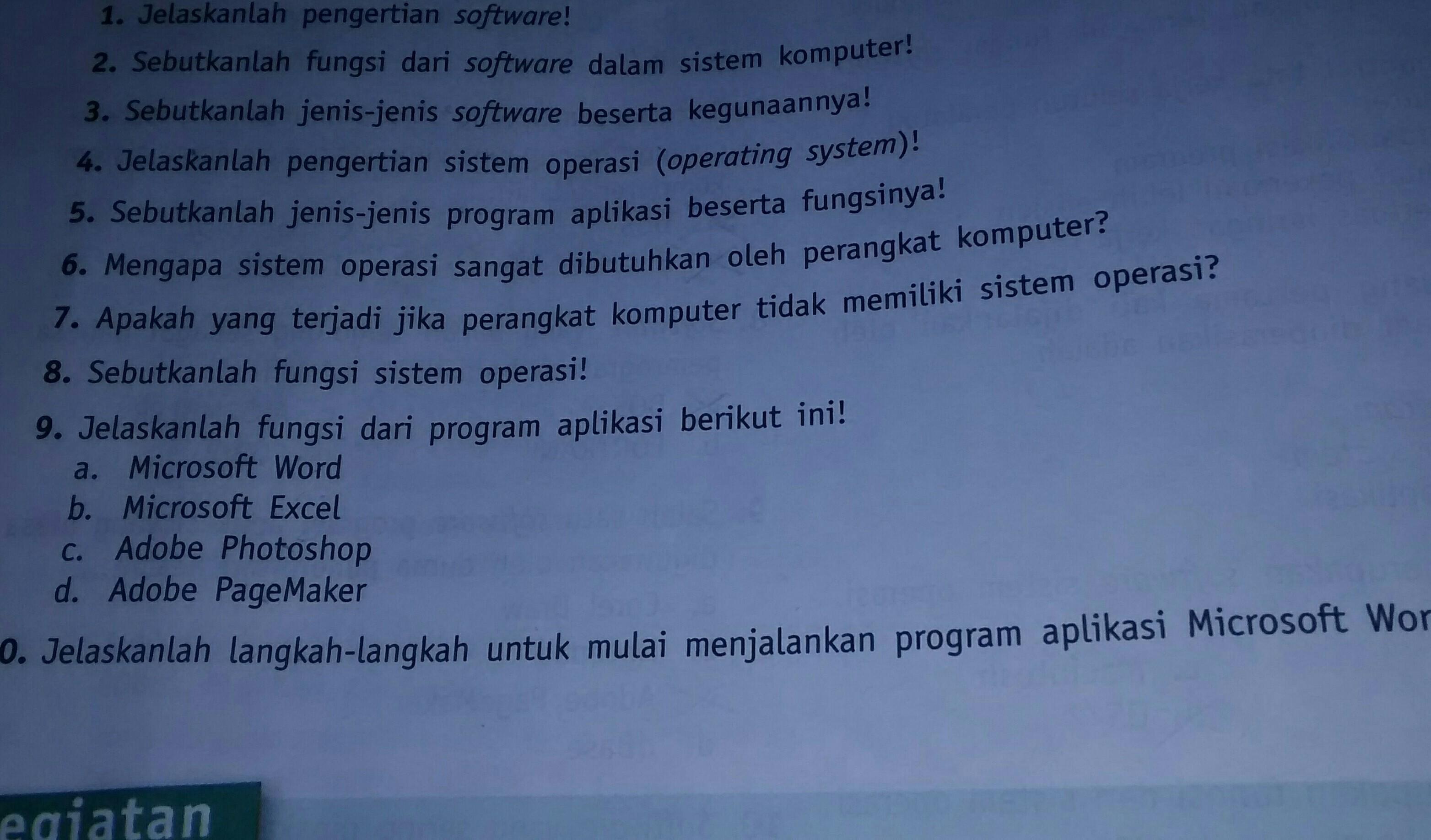 apakah fungsi dari program aplikasi microsoft word