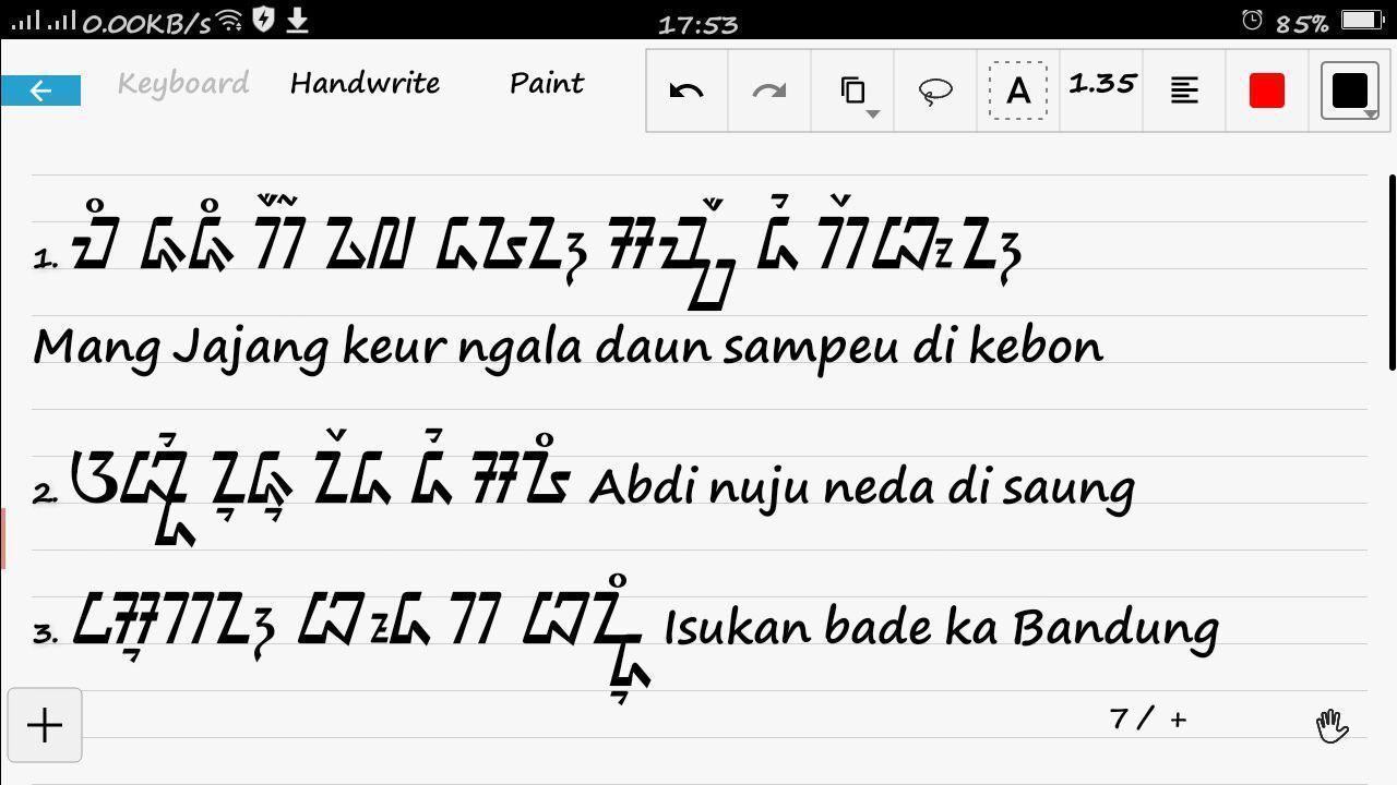 Kaligrafi Aksara Sunda Kairaga Com