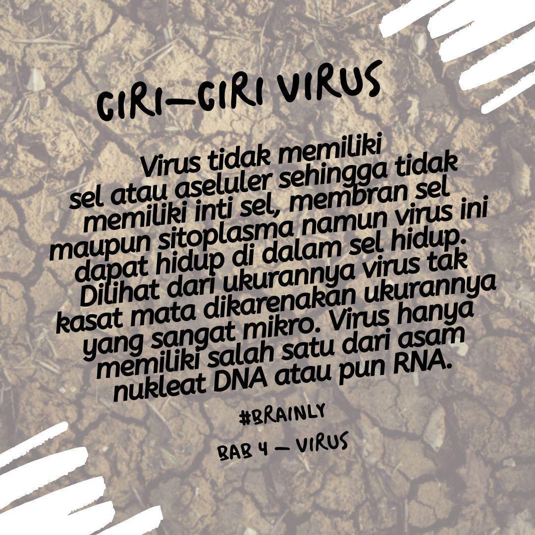 Analisis karakteristik virus berdasarkan ciri ciri virus ...
