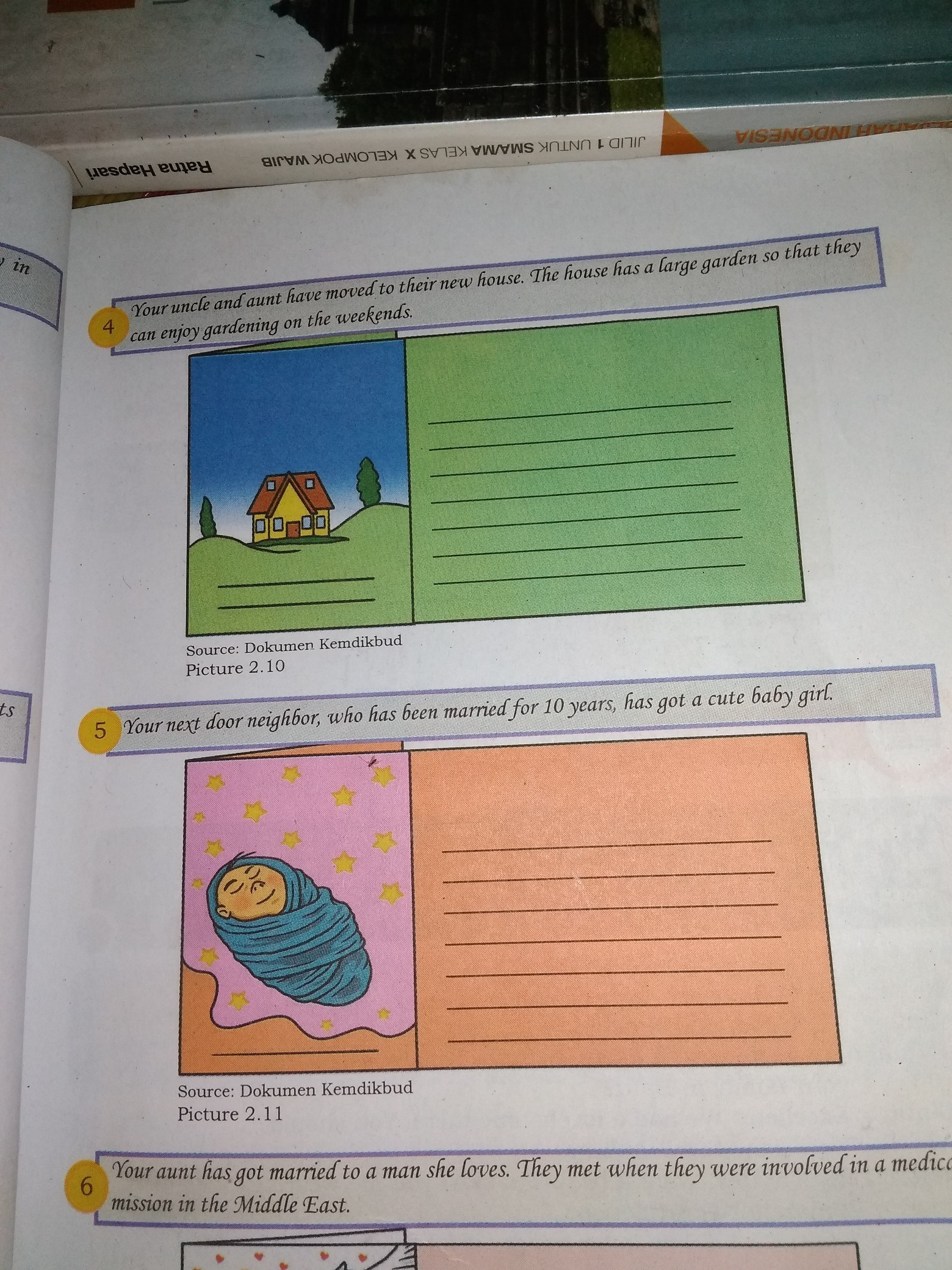 Membuat Surat Kartu Ucapan Selamat No 2 4 5 Brainly Co Id