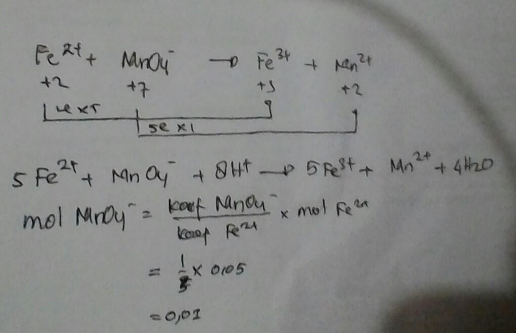 Besi sebanyak 2,8 gram dilarutkan dalam larutan asam ...