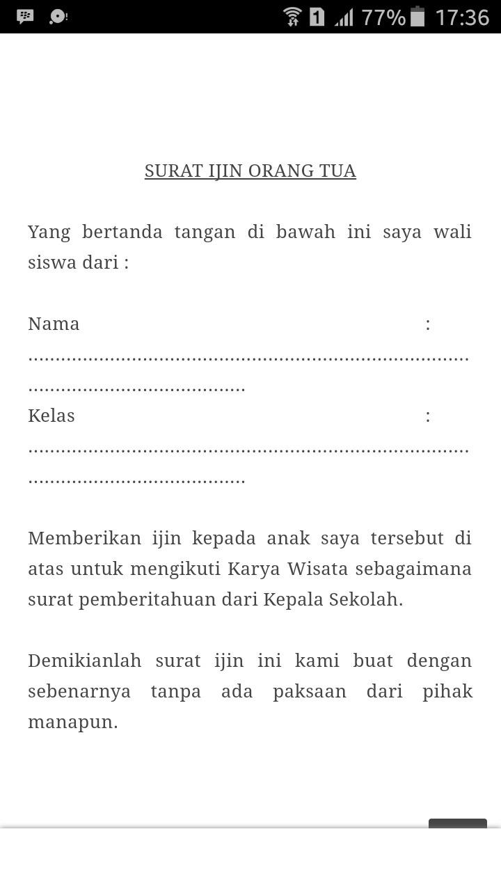 Contoh Surat Pernyataan Untuk Mengikuti Karya Wisata