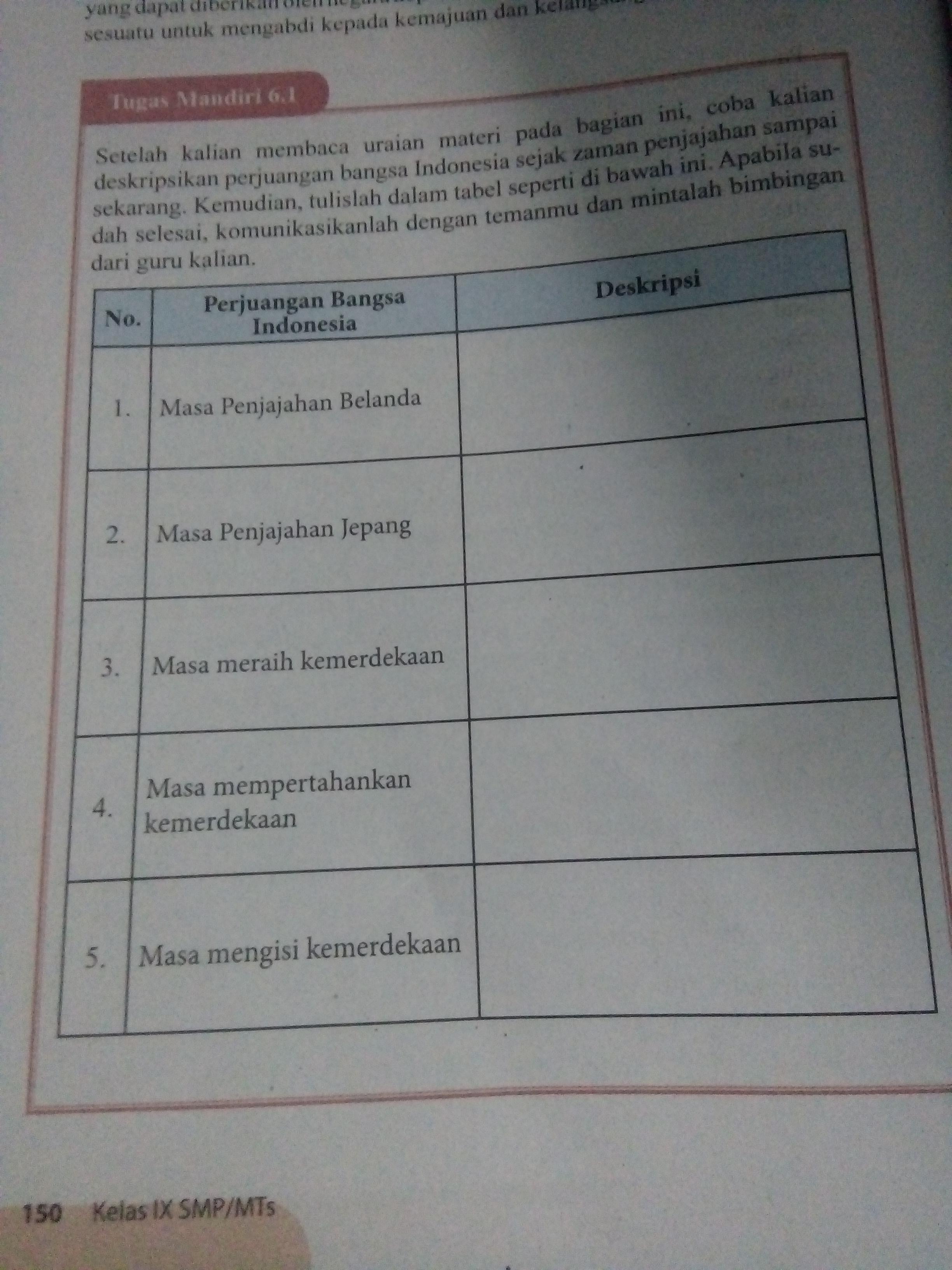 Tugas Bahasa Indonesia Kelas 11 Di Buku Paket Halaman 153 Semester 2
