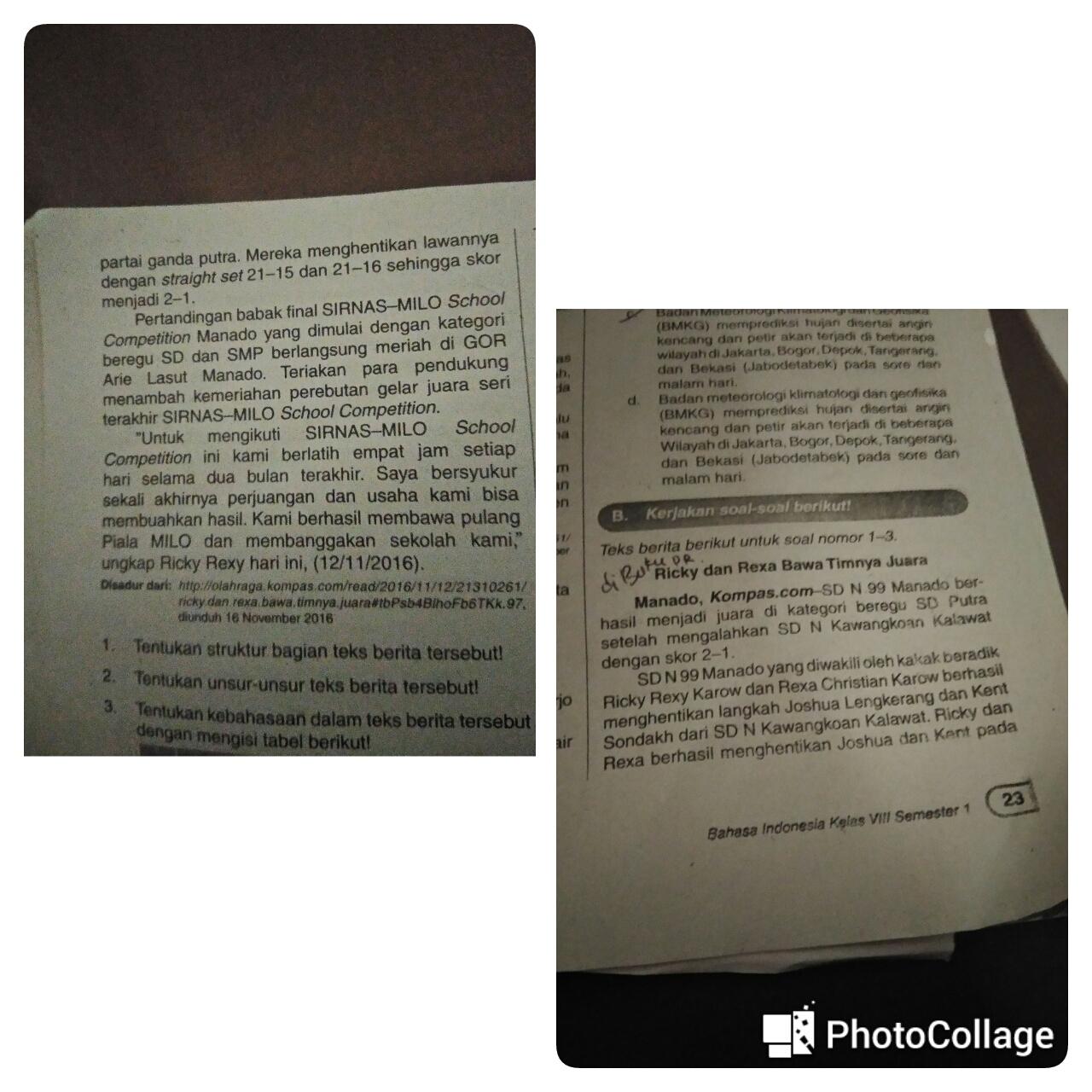 1 Tuliskan Struktur Bagian Teks Berita Tersebut2 Tentukan Unsur