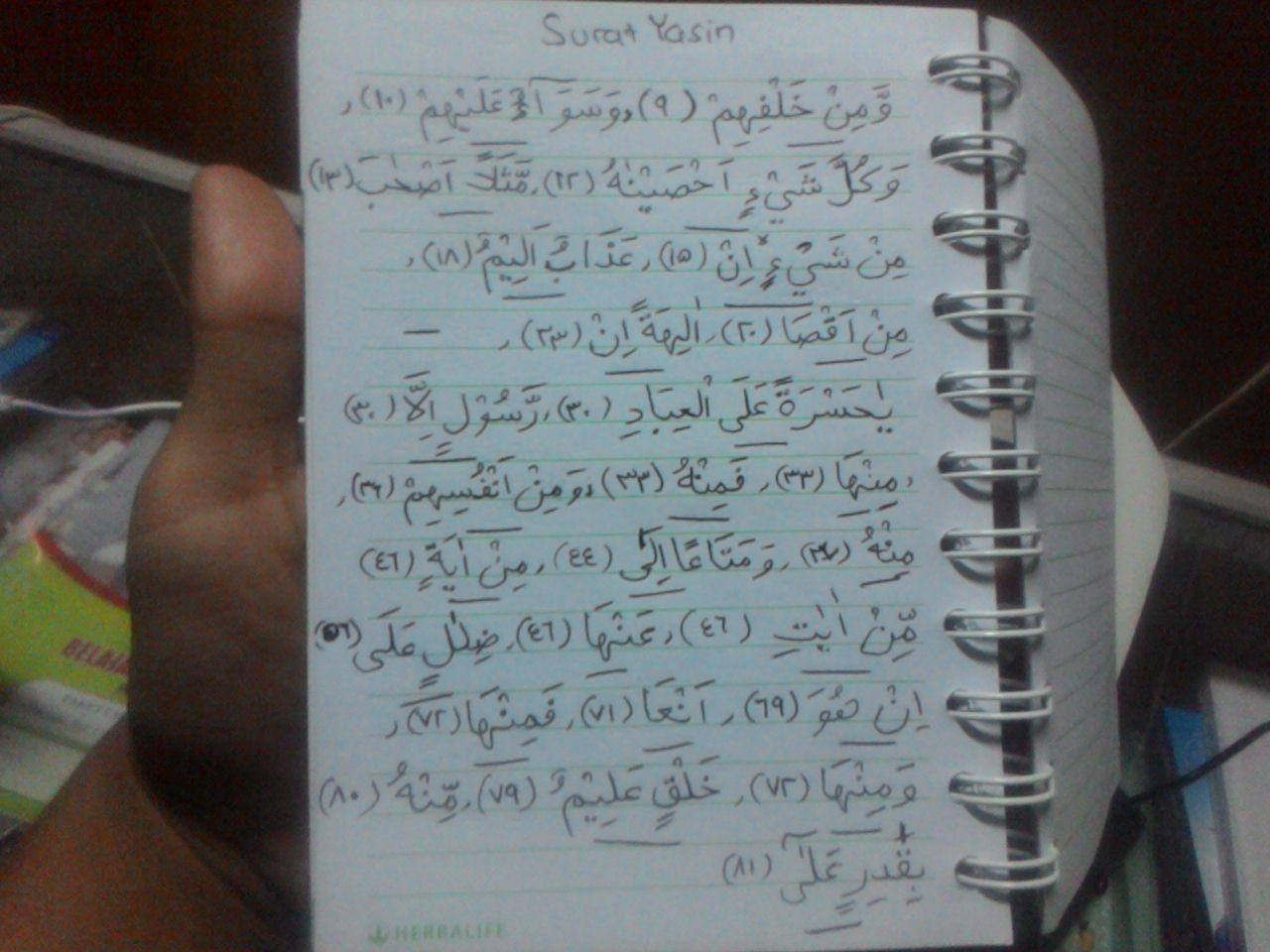 Tuliskan Contoh Izhar Halqi Dari Surat Yasin Saya Butuh Semua