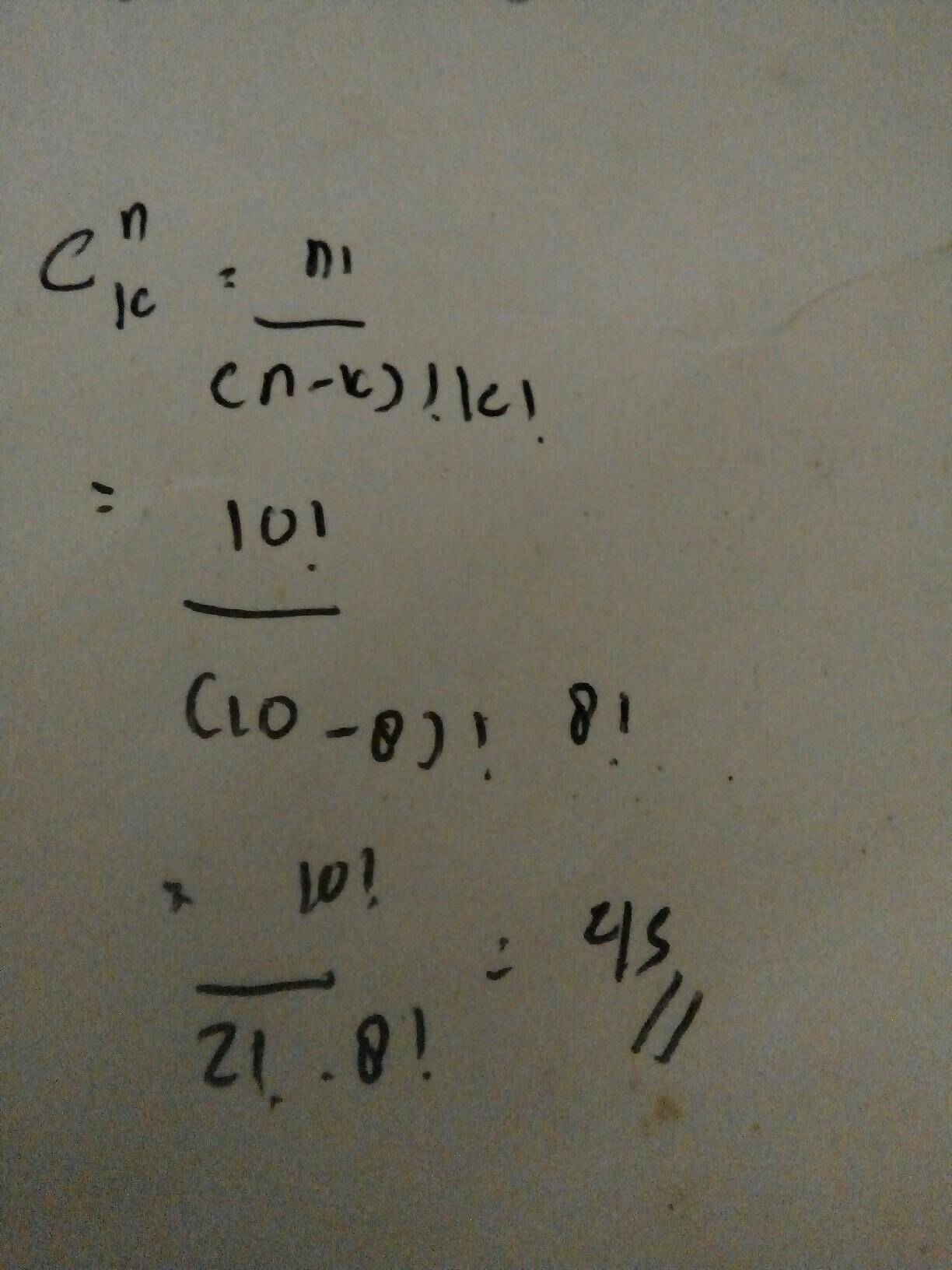 Seorang siswa harus menjawab 8 dari 10 soal yang ...