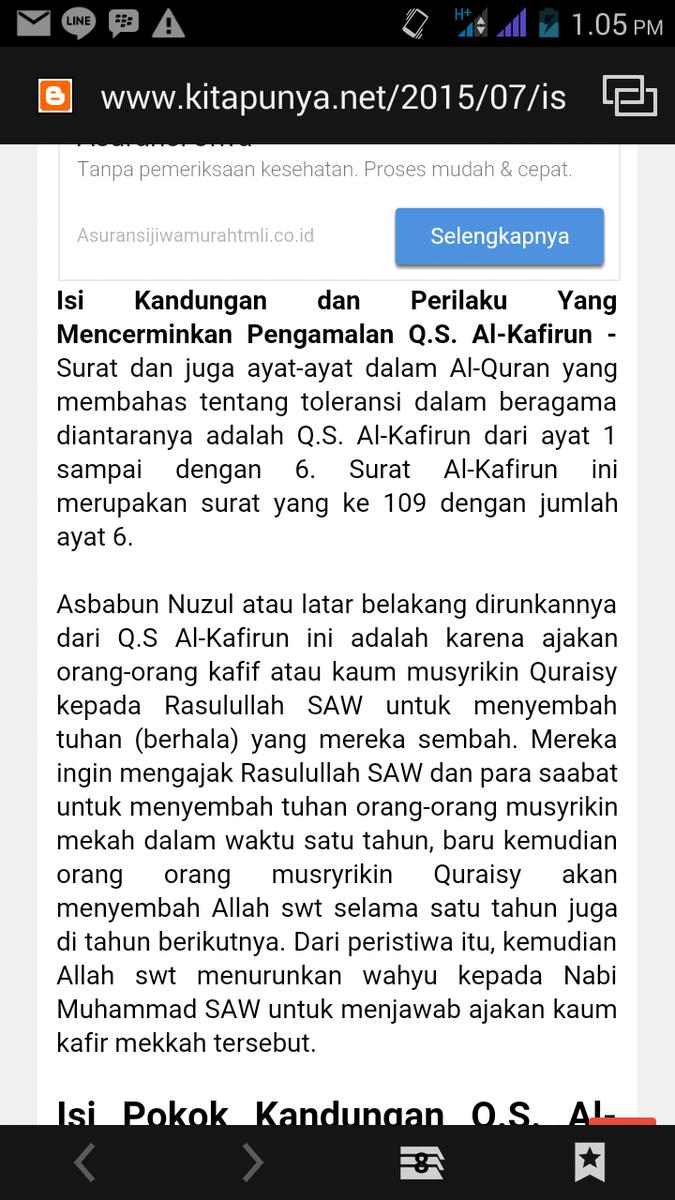 Surat Al Kafirun Adalah Surat Yang Ke 109 Surat Ini Terdiri
