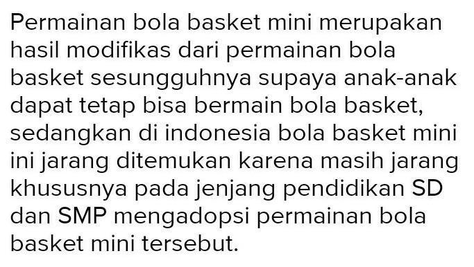 Tolong Dijawab 1 Pengertian Bola Basket Mini 2 Pengertian Permainan Tenis Meja 3 Pengertian Dan Brainly Co Id