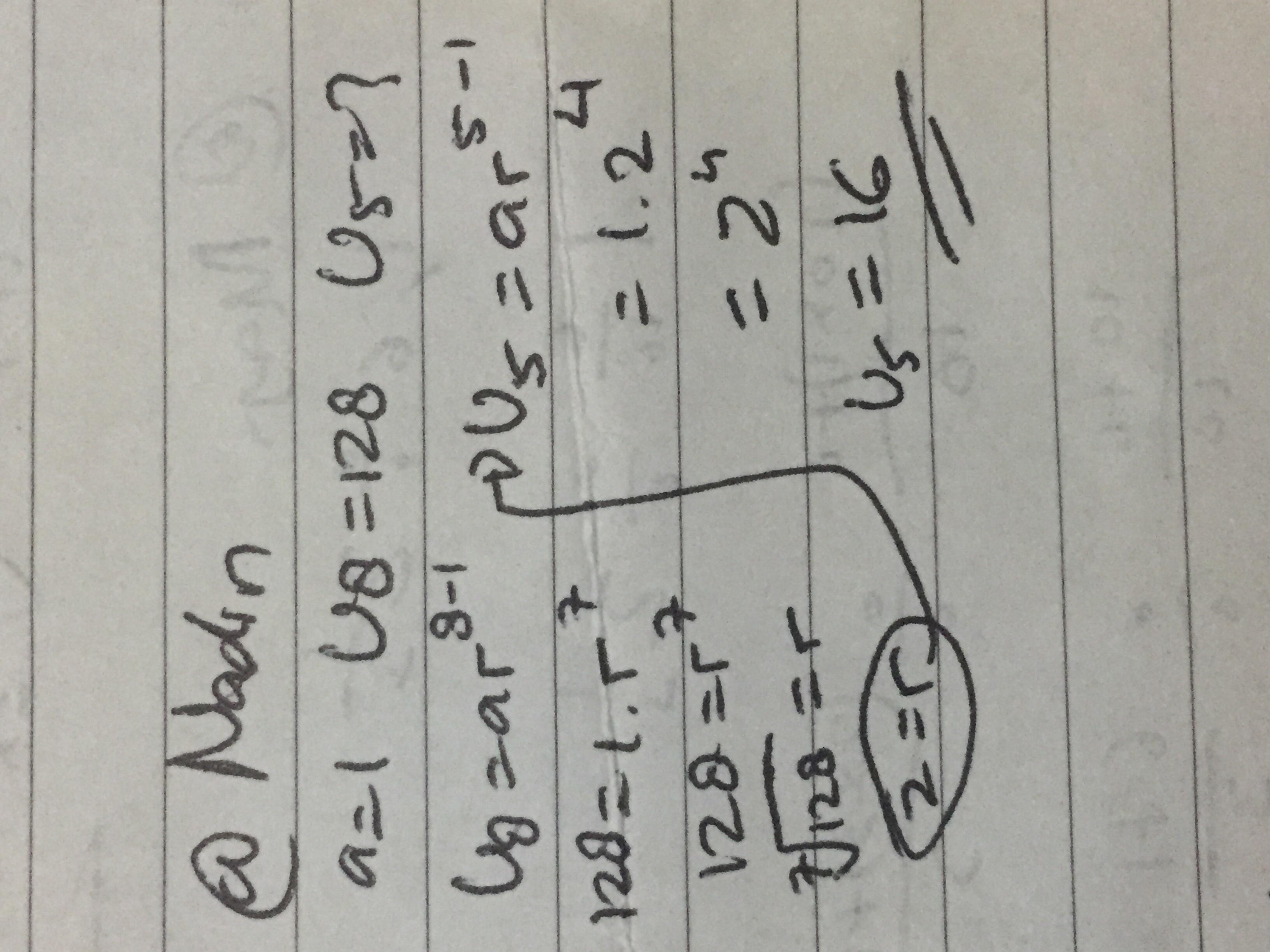 Diketahui barisan geometri dengan suku pertama 1 dan suku ...