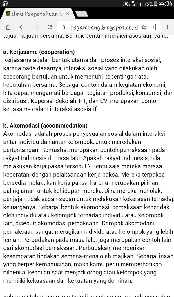 Syarat Interaksi Sosial Adalah Dilakukan Oleh Paling ...