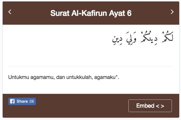 Surah Al Kafirun Mengandung Ajaran Tdk Mencampuradukandlm
