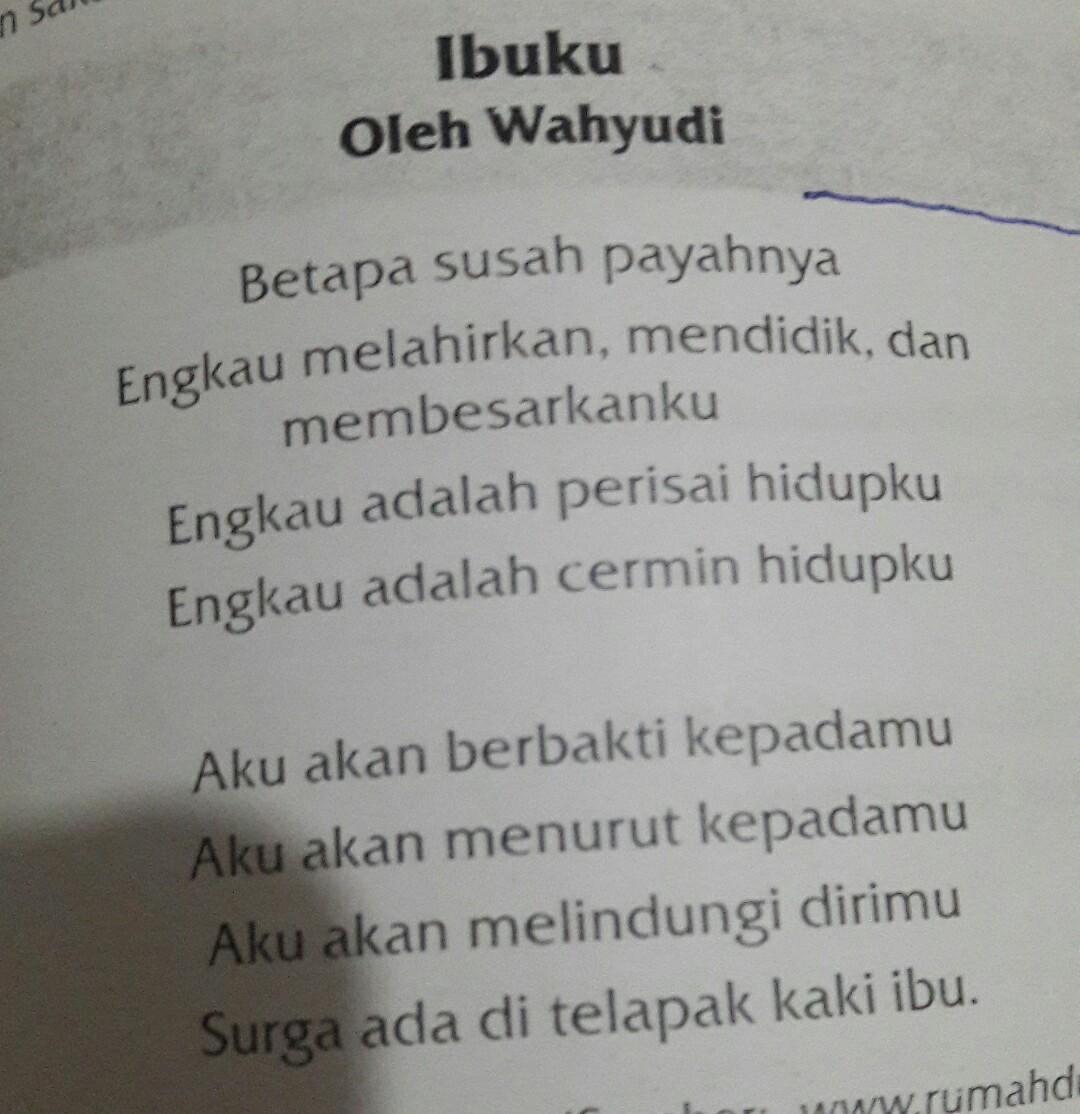 1 Apa Tema Puisi Tsb2 Bagaimana Keindahan Bunyi Yang Dihasilkan