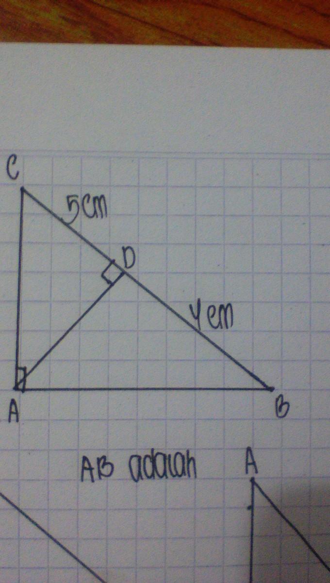 pada gambar ini segitiga ABC siku-siku di A dan AB tegak lurus BC ... b71126bae4