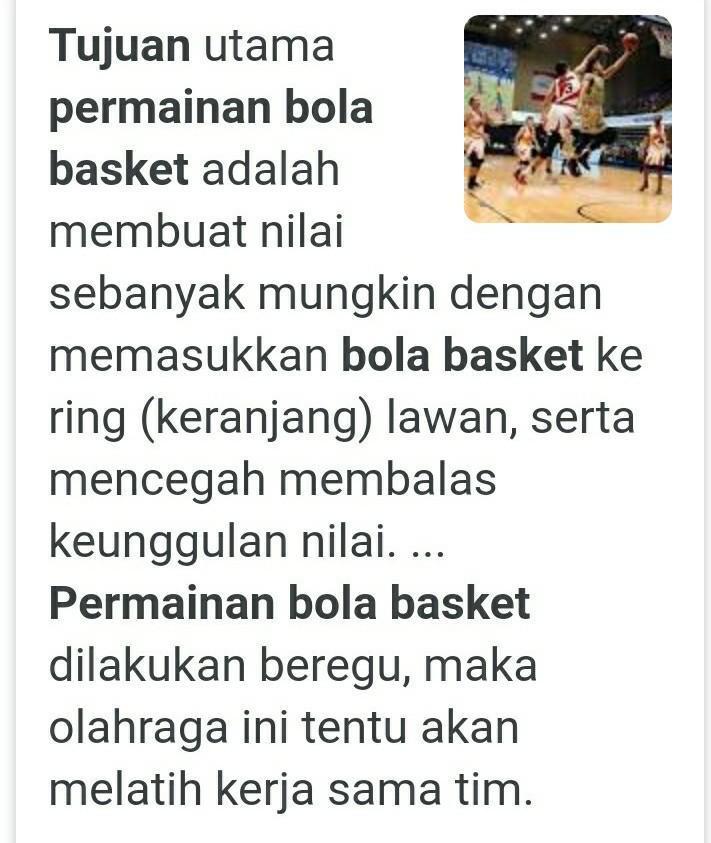 Terangkan Apa Tujuan Pemain Bola Basket Brainly Co Id