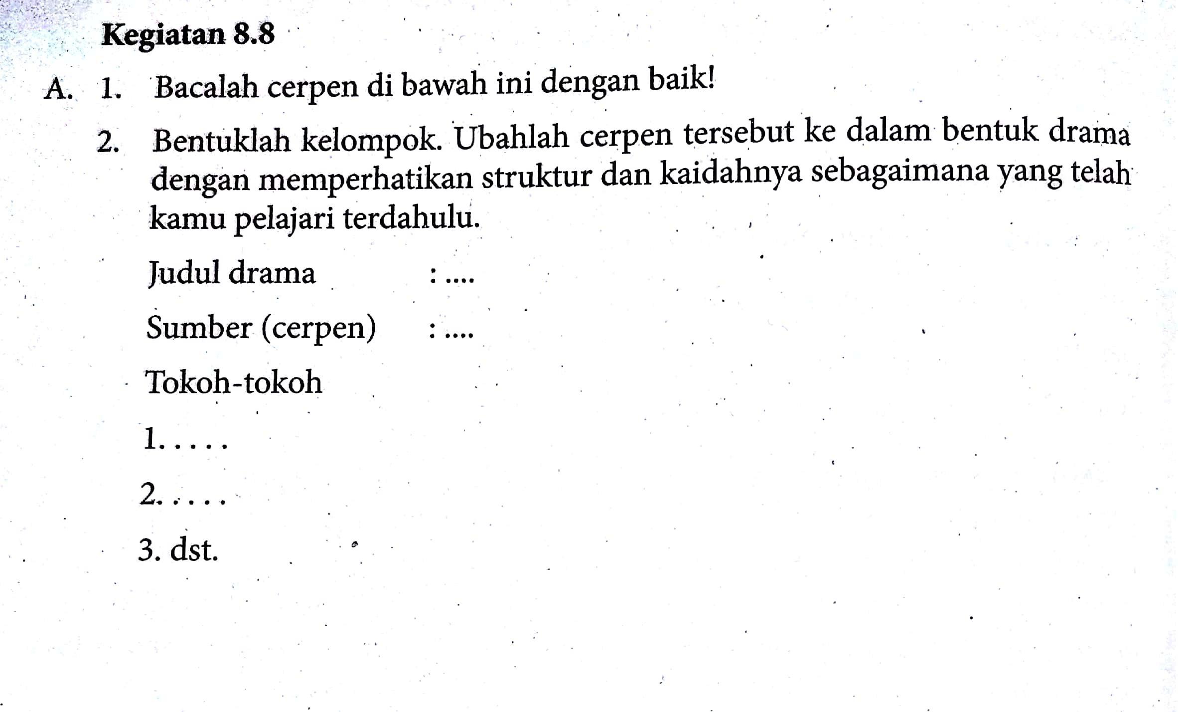 Contoh Soal Dan Jawaban Bahasa Indonesia Materi Cerpen Guru Ilmu Sosial